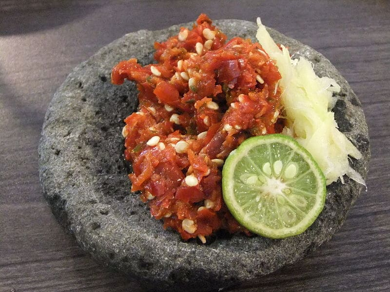 verschillende soorten sambal